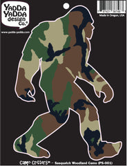 "PS-001 - Sasquatch Camo  - Bigfoot - Camouflage - Peel and Stick Vinyl Decal ©YYDCo. (4""w x 6""h)"