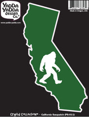 "PS-011 - Sasquatch in California State - Bigfoot - Peel and Stick Vinyl Decal ©YYDCo. (3.5""w x 5.75""h)"