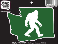 "PS-017 - Sasquatch in Washington State - Bigfoot - Peel and Stick Vinyl Decal ©YYDCo. (5""w x 3.75""h)"