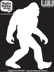 "PS-021 - Sasquatch Silhouette - Bigfoot - Yeti - Peel and Stick Vinyl Decal ©YYDCo. (4""w x 5.75""h)"