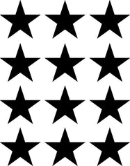"PATT:GLS - STAR - Glossy Vinyl Stars - MEDIUM 12 Pack - Vinyl Transfer Decals - DIY Wallpaper - © Yadda-Yadda Design Co.  (12 pack each 2.7"")(COLOR CHOICES)"