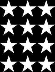 "PATT - STAR - STARS - MEDIUM 12 Pack - Vinyl Wall Decals - DIY Wallpaper - © Yadda-Yadda Design Co.  (12 pack each 2.7"")(COLOR CHOICES)"