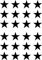 "PATT:GLS - STAR - Glossy Vinyl Stars - Small 24 Pack - Vinyl Transfer Decals - DIY Wallpaper - © Yadda-Yadda Design Co.  (24 pack each 1.75"")(COLOR CHOICES)"