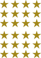 "PATT - STAR - STARS - Small 24 Pack - Vinyl Wall Decals - DIY Wallpaper - © Yadda-Yadda Design Co.  (24 pack each 1.75"")(COLOR CHOICES)"