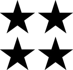 "PATT:GLS - STAR - Glossy Vinyl Stars - LARGE 8 Pack - Vinyl Transfer Decals - Car Decals - DIY Wallpaper - © Yadda-Yadda Design Co.  (8 pack each 4.7"")(COLOR CHOICES)"