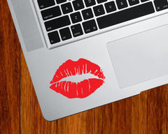 "TP - Hot Lips Kiss Mark - Vinyl Decal for Trackpad | Tablets | Indoor Use (2.5""w x 1.75""h) (Color Variations Available)"