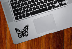 "TP - Butterfly - D1 - Trackpad | Tablet | Water Bottle Decal © YYDC (2.25""w x 1.75""h) (Color Choices)"
