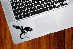 "TP - Dragon Flying - D1 - Trackpad Keyboard Vinyl Decal © YYDC (3""w x 2.5""h) (Color Choices)"