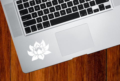 "TP - Lotus Flower - D1 - Trackpad / Keyboard - Vinyl Decal (2""w x 2""h) (Color Choices)"
