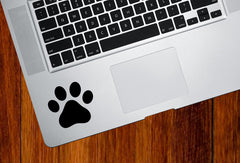 "TP - Dog Pawprint - Paw Print - Vinyl Decal Sticker for Trackpad | Tablet | Indoor Use - (2.25""w x 2""h) (Color Choices)"