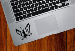 "TP - Spiral Butterfly D1 - Trackpad | Tablet | Indoor Use Vinyl Decal Sticker - ©YYDC (2.5""w x 2.5""h) (Color Choices)"