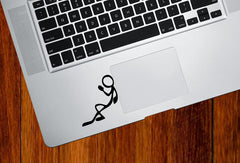 "TP - CHILL - Stick Figure - Trackpad or Keyboard Vinyl Decal  (1.75""w x 2""h) (Colors)"