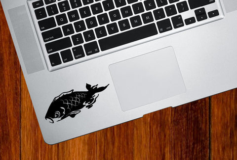 "TP - Koi Swimming - Trackpad Vinyl Decal - ©YYDC (3.5""w x 1.5""h) (Color Choices)"