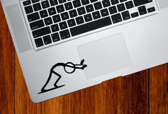 "TP - PUSH - Stick Figure - Trackpad / Keyboard - Vinyl Decal Sticker (3.75""w x 1.75""h) (Color Variations Available)"