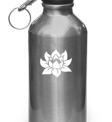 "WB - Lotus Flower Design 1 - Vinyl Decal for Water Bottles | Vacuum Flask | Outdoor Use - (2""w x 2""h)(Color Variations Available)"