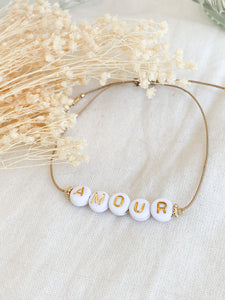 Bracelet LUCIE - message