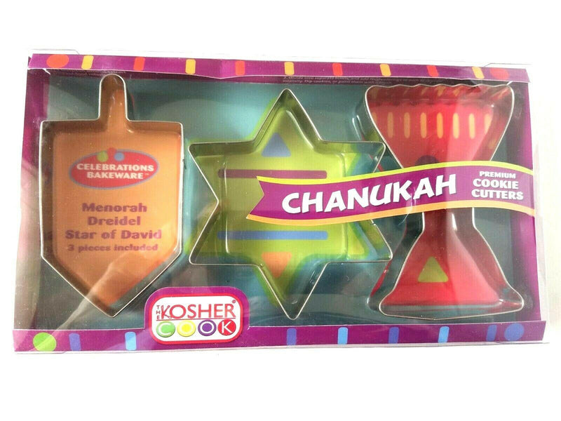 Set of 3 Chanukah Cookie Cutters
