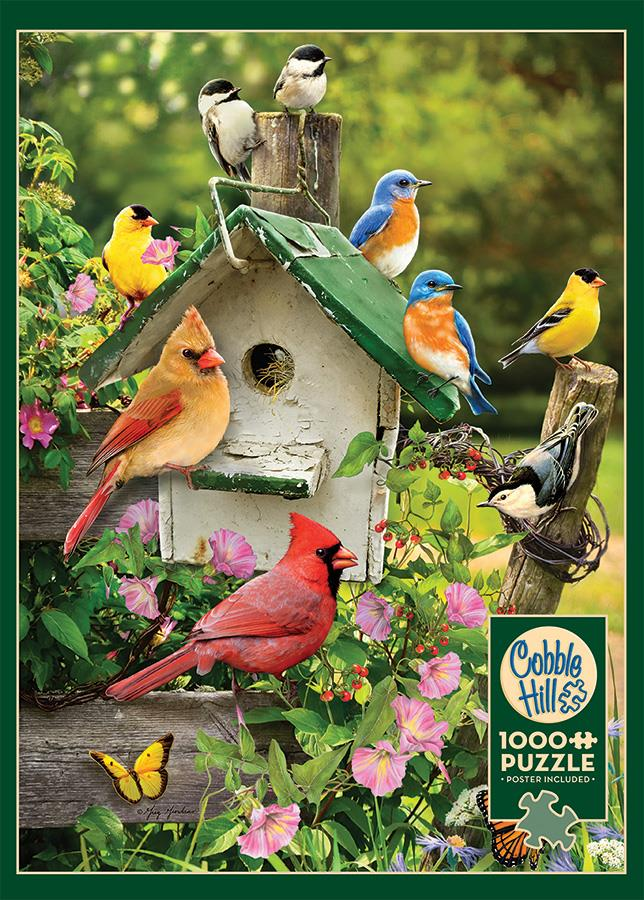 1000 Piece Puzzle - Summer Birdhouse