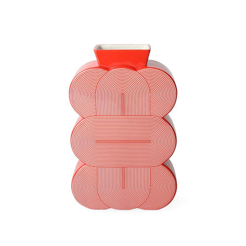 Red Pompidou Medium Vase