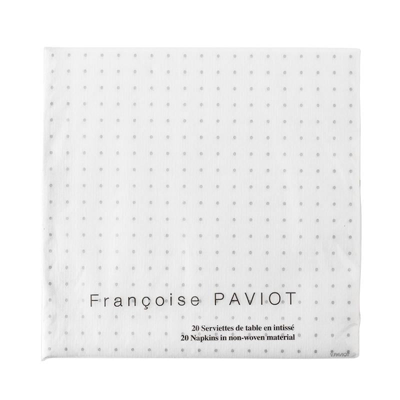 Paviot Dinner Napkins Cosmos Silver | Kitchen Art | Wrapt