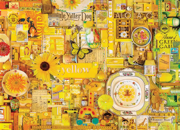 Cobble Hill 1000 Pc Puzzle - Yellow | Wrapt