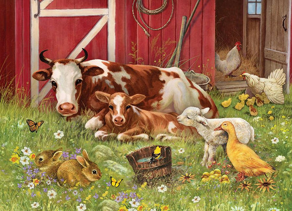 Cobble Hill Family Puzzle 350pc Barnyard Babies | Wrapt