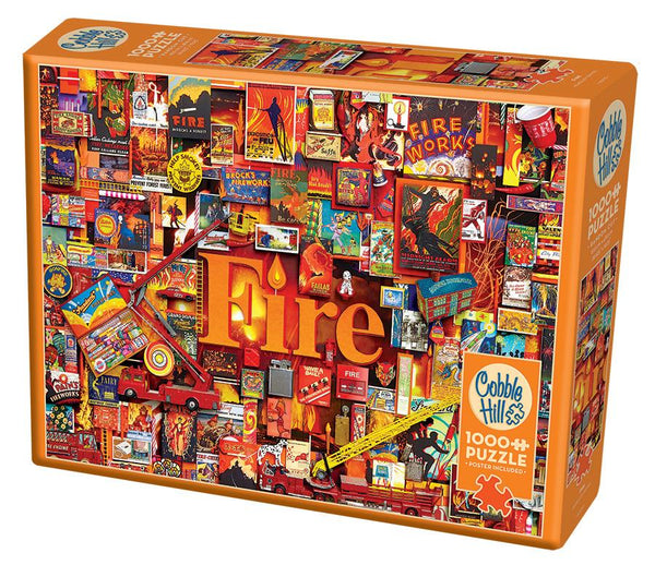 Cobble Hill 1000 Piece Puzzle | Fire | Kitchen Art