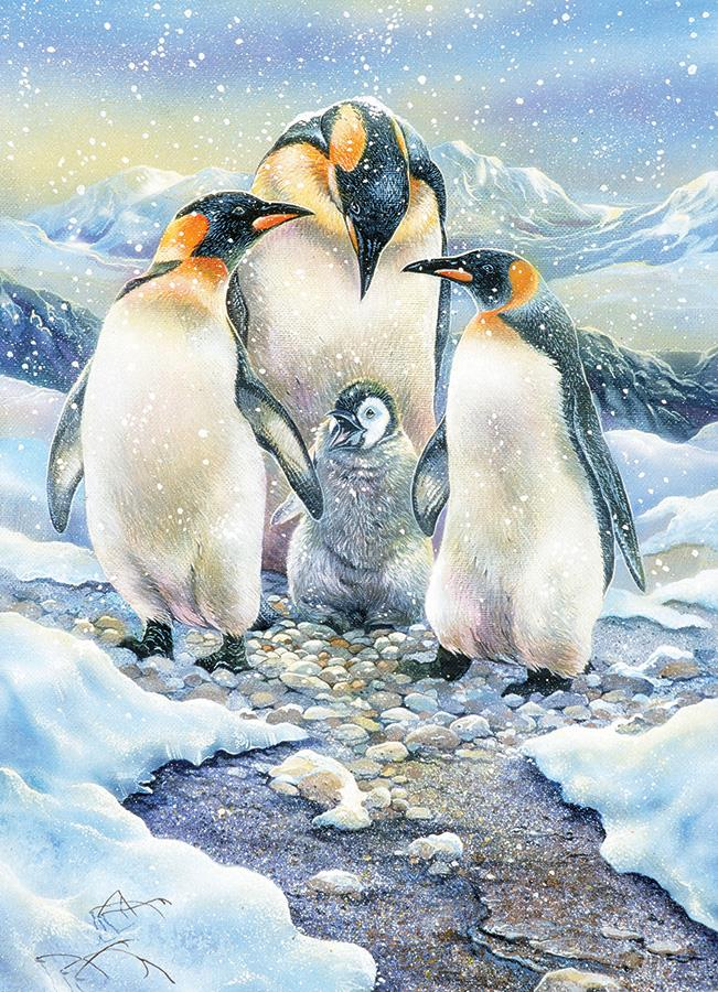350 Piece Family Puzzle - Penguin Family
