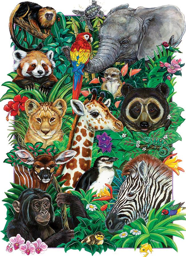 350 Piece Family Puzzle - Safari Babies