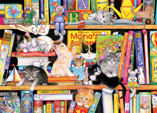 Cobble Hill Family Puzzle 350pc Storytime Kittens | Wrapt