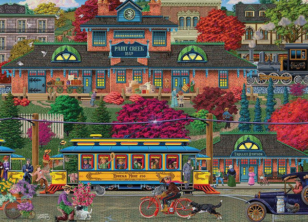 Cobble Hill 500 Piece Puzzle - Trolley Station | Wrapt