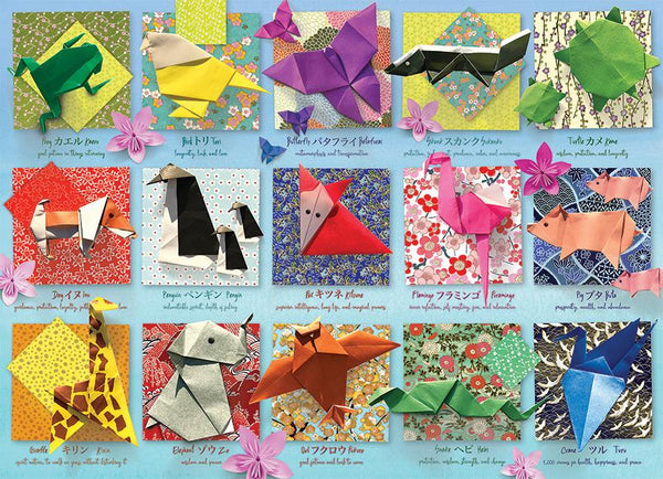obble Hill 500 Piece Puzzle Origami Animals | Wrapt