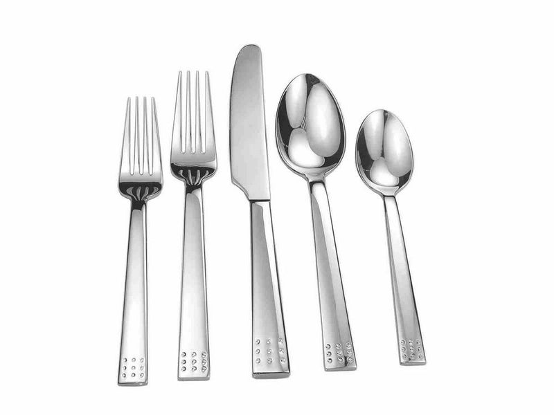 Splendide 20 Piece Flatware Set | Dots | Kitchen Art