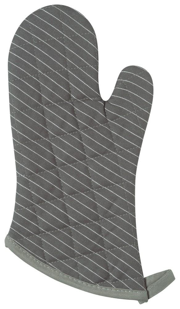 Set of 2 Oven Mitts - Pinstripe Granite | Kitchen Art