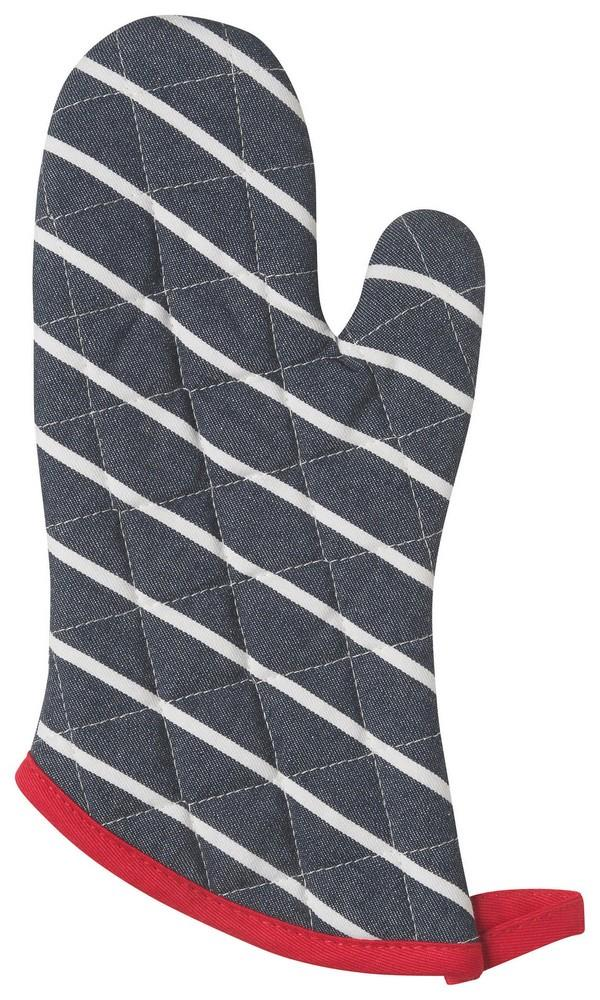 Set of 2 Oven Mitts - Butcher Stripe