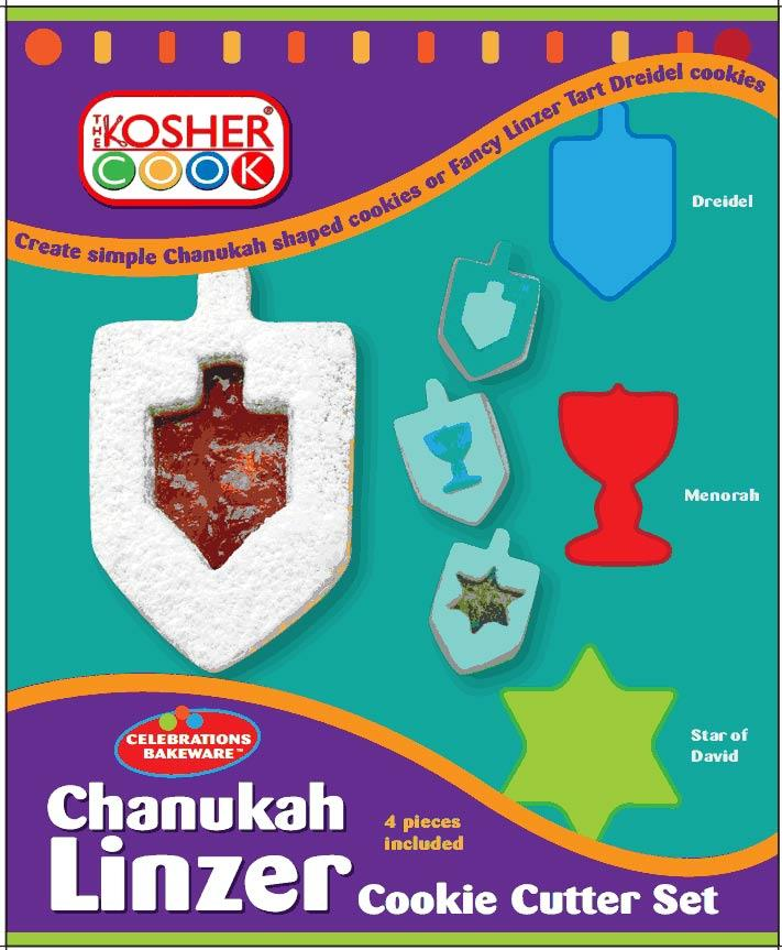 Chanukah Linzer Cookie Cutters