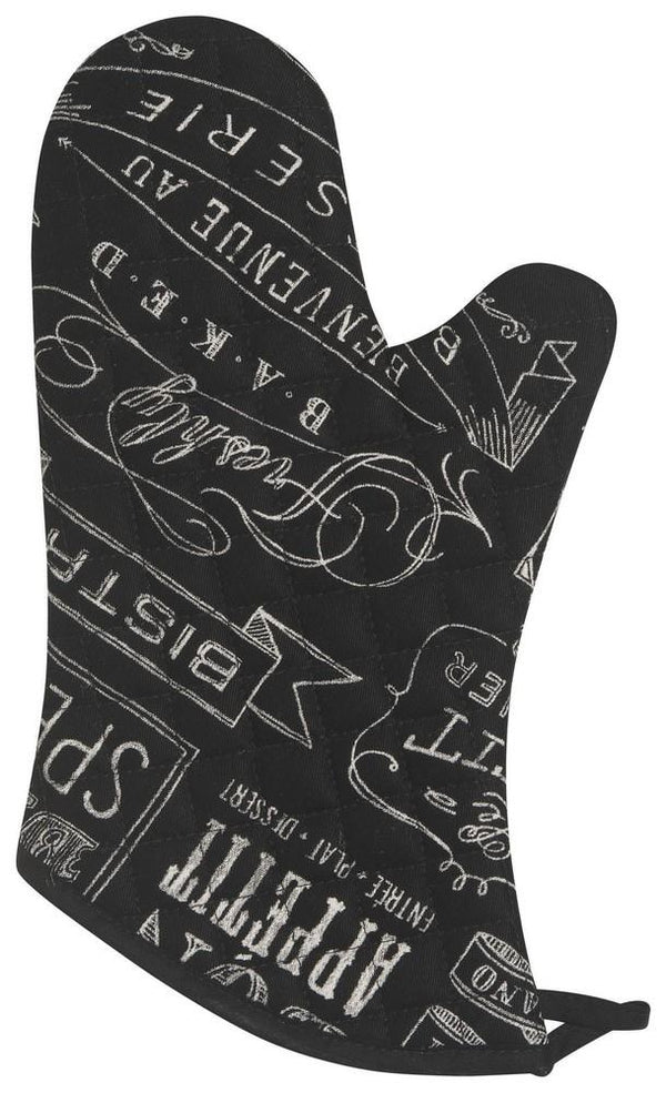Set of 2 Oven Mitts - Chalkboard | Kitchen Art