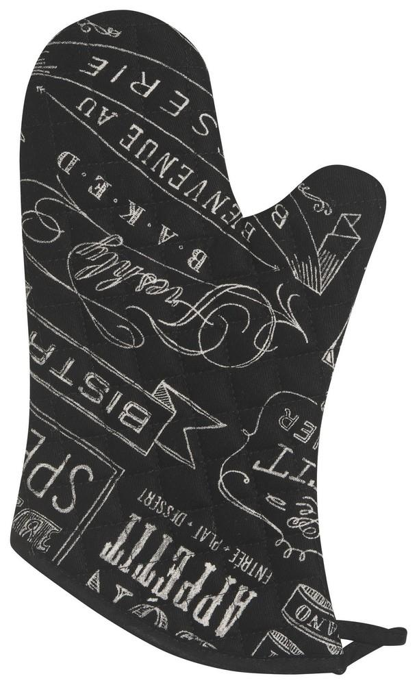 Set of 2 Oven Mitts - Chalkboard