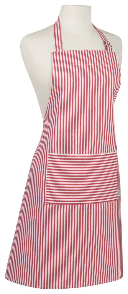 Chef's Apron - Red Narrow Stripe