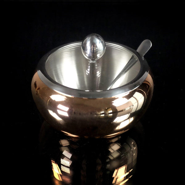 Copper/Stainless Covered Sugar Bowl