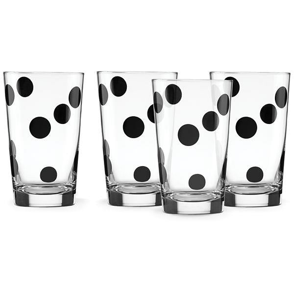 Set of 4 Beverage Glasses - Deco Dot