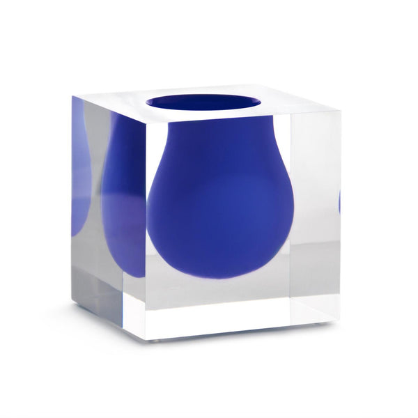 Jonathan Adler Mini Scoop Vase - Cobalt | Wrapt