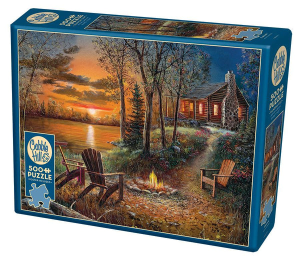 Cobble Hill 500 Pc Puzzle - Fireside | Kitchen Art