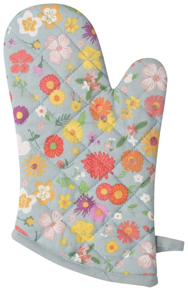Set of 2 Oven Mitts - Flower of the Month