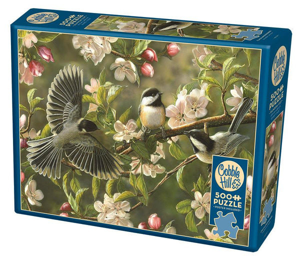 Cobble Hill 500 Pc Puzzle - Chickadeedeedees | Wrapt