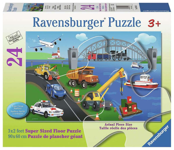 Ravensburger Floor Puzzle - A Day on the Job | Wrapt