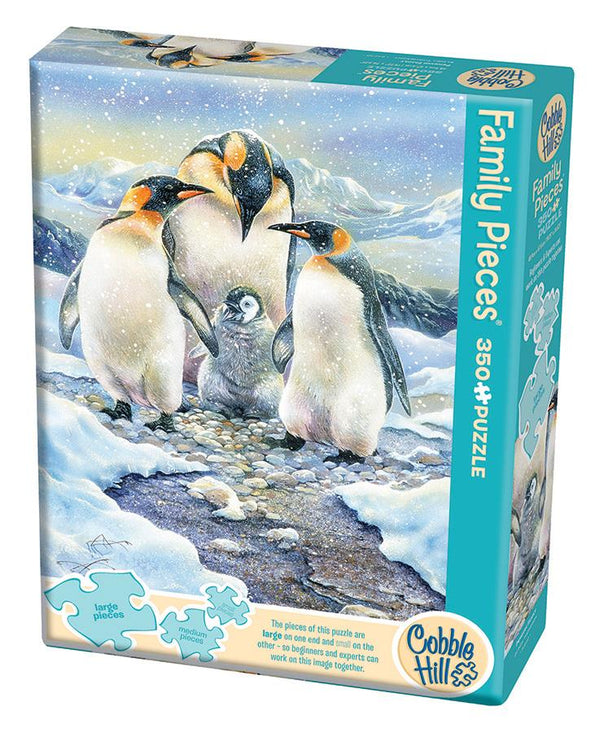 Cobble Hill Family Puzzle 350 Pc Penguin Family | Wrapt