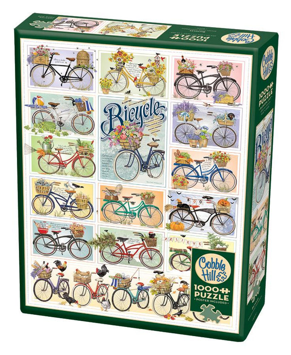 Cobble Hill 1000 Piece Puzzle - Bicycles | Kitchen Art