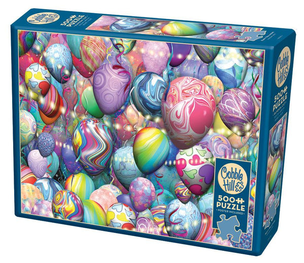 Cobble Hill 500 Piece Puzzle - Party Balloons | Wrapt