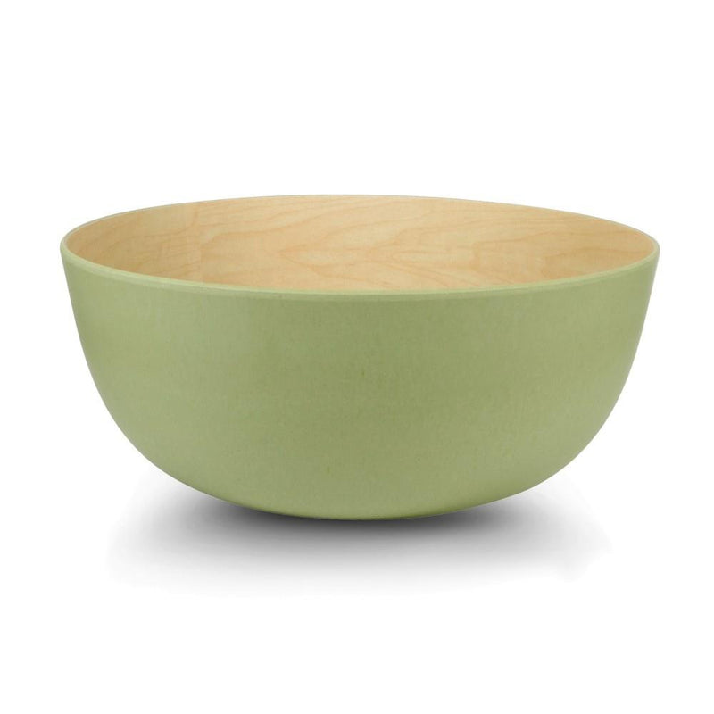 Medium Bamboo Bowl - Maple/Green